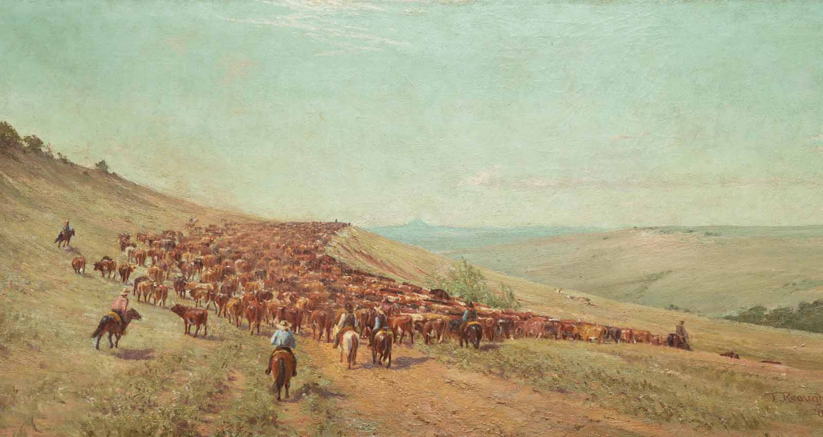 Frank Reaugh, Driving the Herd, 1904, Dallas Museum of Art