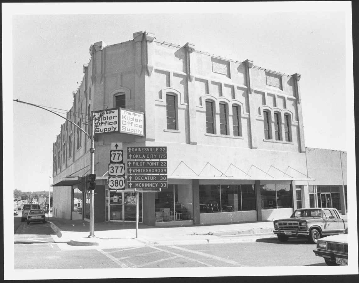 Opera House Original Façade Denton County 1938 Uses Art Deco Style Lettering On Sign And Changes Entrance