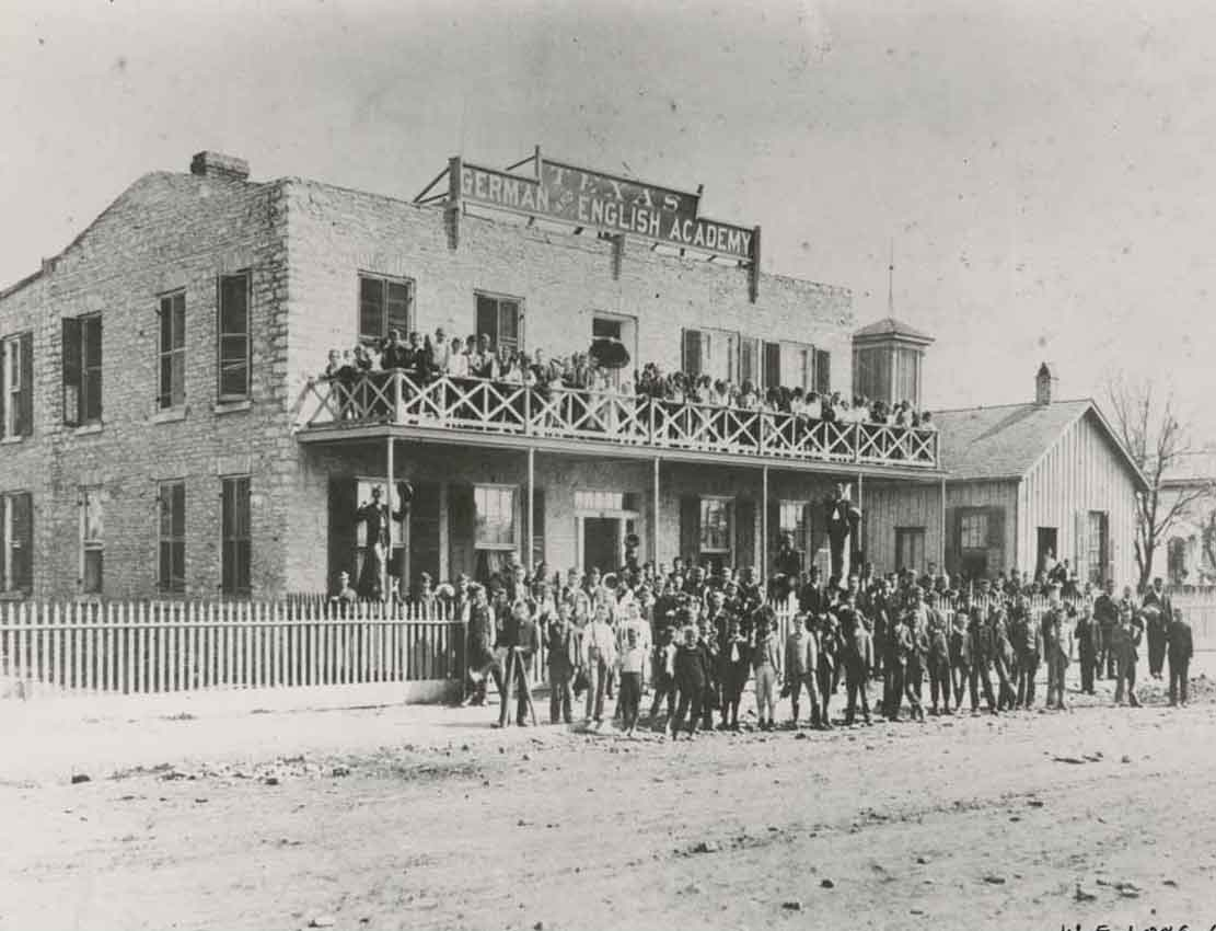 Another Austin school, the Texas German and English Academy opened in 1877, founded by Jacob Bickler. (Austin History Center)